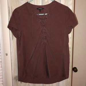EXPRESS lace up blouse